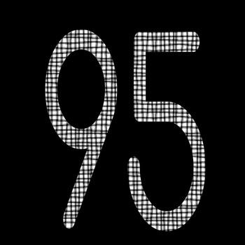 Black Check Clipart Alphabet, Numerals, Math Symbols and Punctuation Marks