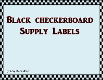 Black Checkerboard Supply Labels