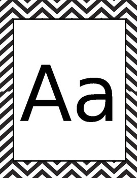 Black Chevron Alphabet Cards