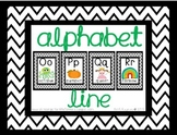 Black Chevron Alphabet Line