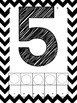 Black Chevron Alphabet and Number posters