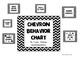 Black Chevron Behavior Chart