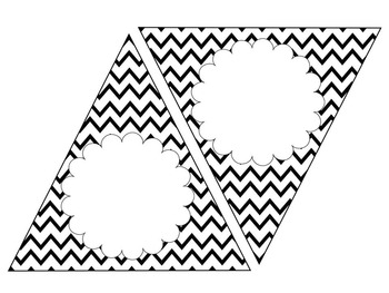 Black Chevron Bunting--EDITABLE text and size, 4 designs