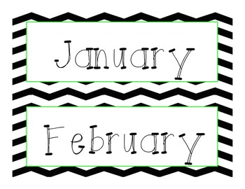 Black Chevron Calendar