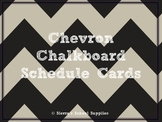 Black Chevron Chalkboard Schedule Cards