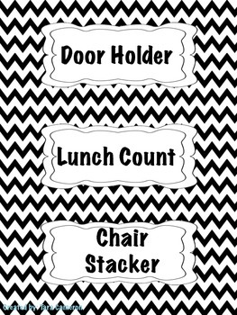 Black Chevron Classroom Bundle