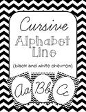 Black Chevron Cursive Alphabet Line