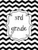 Black Chevron Grade Level Binder Covers 2: Organize Your K