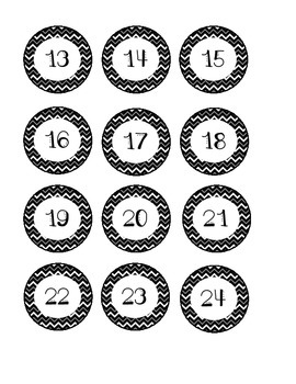 Black Chevron Number Labels