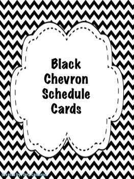 Black Chevron Schedule Cards