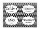 Black Chevron Spanish Classroom Labels