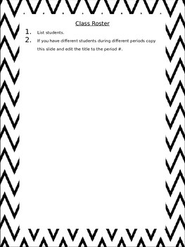 Black Chevron Substitute Teacher Binder