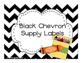 Black Chevron Supply Labels