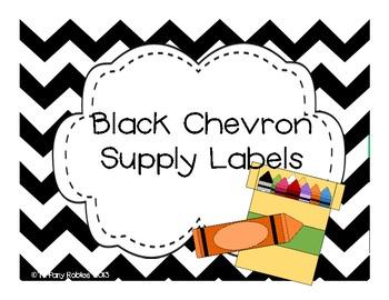 Black Chevron Supply Labels