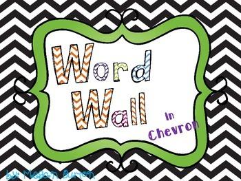 Chevron Word Wall in Black