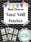 Black Chevron Word Wall Headers