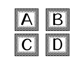 Black Chevron Word Wall Letter Headers