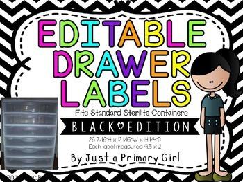 Black ChevronEditable Drawer Labels