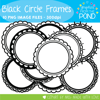 Black Circle Frames - Graphics From the Pond