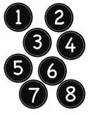 Black Circle Number Labels 1- 30