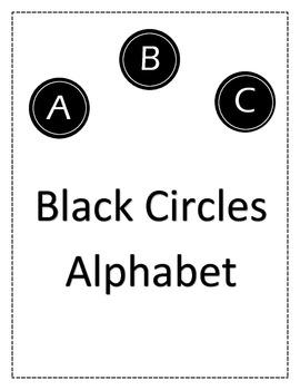 Black Circles Alphabet