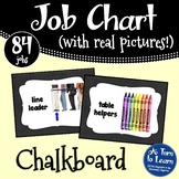 Chalkboard Classroom Job Chart with Pictures