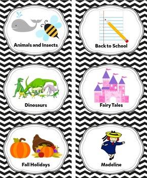 Black Classroom Library Labels & Individual Book Labels {Editable}