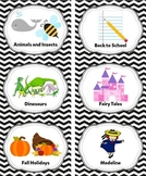 Black Classroom Library Labels & Individual Book Labels {E