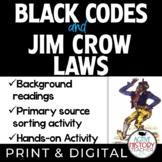 Black Codes and Jim Crow Laws - Summary - Sorting Activity - Emoji Exit Ticket
