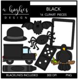 Black Color Clipart {A Hughes Design}