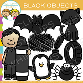 Black Color Objects Clip Art