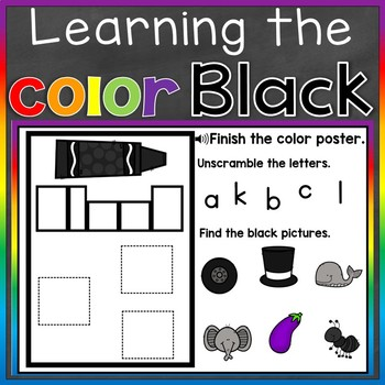 Black Color Recognition Color Word Boom Cards (Learning Colors - Black)