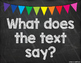 Black & Colorful Text Talk Posters