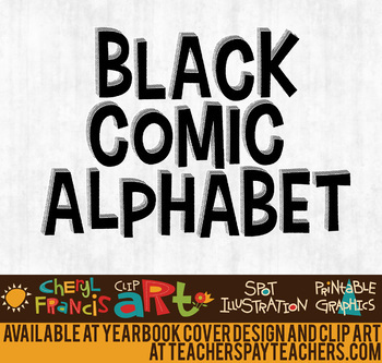 Black Comic Alphabet Art