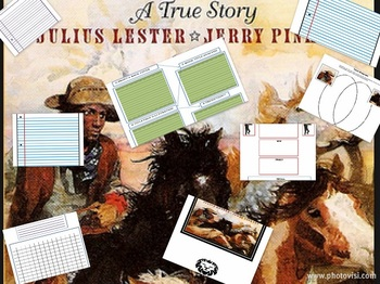 Black Cowboy Wild Horses Lester Pinkney Common Core Reading Book Unit Study