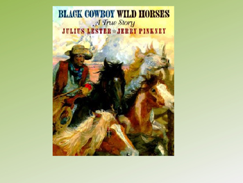 Black Cowboy Wild Horses Text Talk