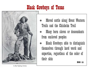 Black Cowboys of Texas Anchor Chart and handout- SS5H1 (A)