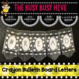 Black Crayon Bulletin Board Letters
