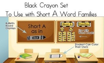 Black Crayon Set to be use with Short A Word Families
