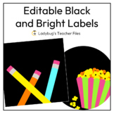 Editable Black and Bright Labels