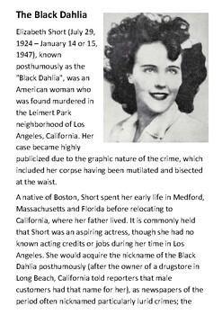Black Dahlia Handout