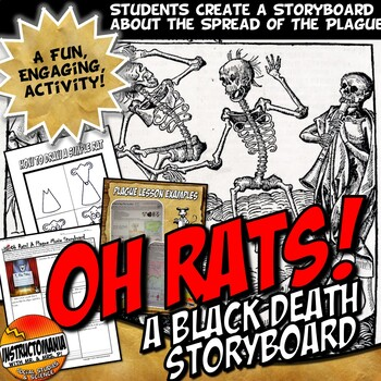 Black Death Bubonic Plague Story Board Activity Medieval Europe NEW!