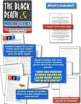 Black Death Bundle! 2 Investigations about Bubonic Plague, History, & Science!