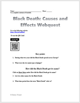 Black Death: Causes and Impact Webquest