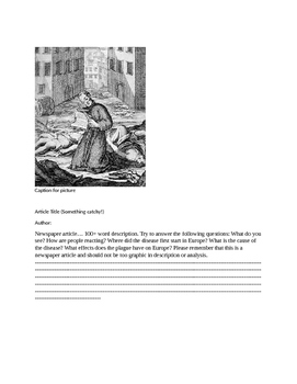 Black Death Newspaper Project
