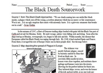 Black Death Primary & Secondary Source Assignment