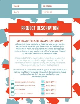 Black Death Snapchat Story Project