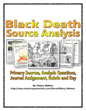 Black Death - Source Analysis (Questions / Assignment with Rubric and Key)