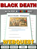 Black Death - Webquest and Map Assignment with Key (Plague/Middle Ages)