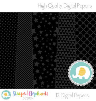 Black Digital Papers
